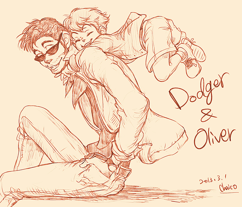dodger_and_oliver_by_chacckco-d5wkxgj