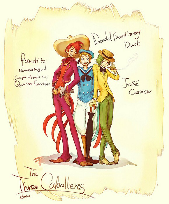 the_three_caballeros_by_chacckco-d4uaupv