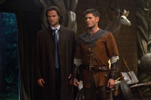 "Supernatural -- ""LARP and the Real Girl"" -- Image SN811b_0434 -- Pictured (L-R): Jared Padalecki as Sam, Jensen Ackles as Dean -- Credit: Liane Hentscher/The CW -- © 2012 The CW Network. All Rights Reserved"