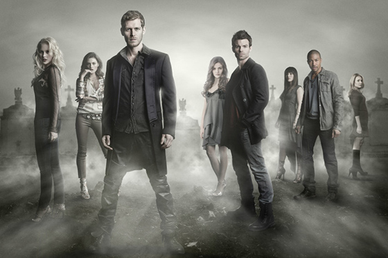 The Originals -- Image Number: OR01_Cast_3041.jpg – Pictured (L-R): Claire Holt as Rebekah, Phoebe Tonkin as Hayley, Joseph Morgan as Klaus, Danielle Campbell as Davina, Daniel Gillies as Elijah, Daniella Pineda as Sophie, Charles Michael Davis as Marcel, and Leah Pipes as Cami -- Photo: The CW -- © 2013 The CW Network, LLC. All rights reserved.